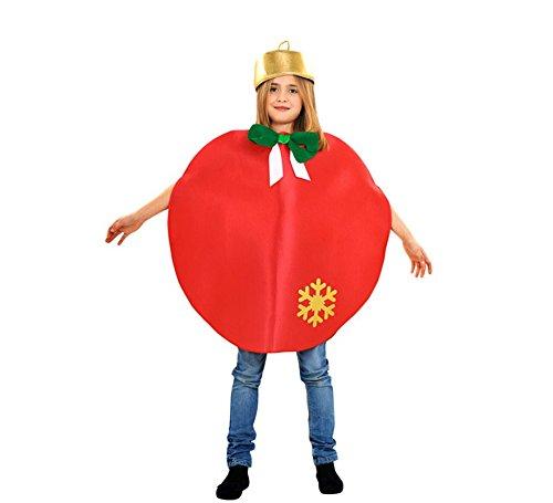 Imagen de disfraz de bola de navidad roja para niños 3 a 4 años