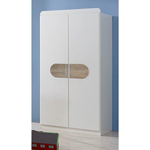 Wimex Kleiderschrank/ Drehtürenschrank Lilly, 2 Türen, (B/H/T) 90 x 175 x 58 cm, Weiß