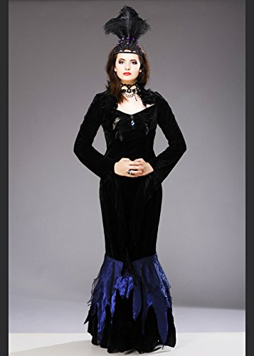 Damen Halloween Gothic Vampire Queen Kostüm XL (UK (Uk Queen Vampir Kostüm)