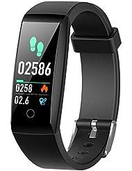 Montre Connectée Podomètre,iPosible Bracelet Connecté Etanche IP67 Smartwatch Sport Écran Couleur Femme Homme Enfant Tension Artérielle Chronomètre Cardiofréquencemètre pour iPhone Samsung Android iOS