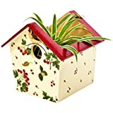 [Sponsored]Wooden Red Birdhouse Shaped Decorative Multy Utility Storage Planter Box - The Weavers Nest