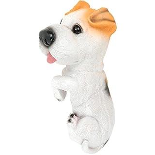 AiO-S - OK Blumentopfaufhänger Zierfigur Blumentopf Zaun Hund Dekofigur Jack Russell 25 cm