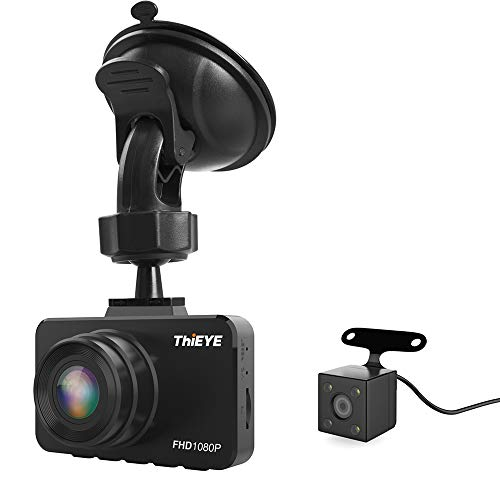 """Carrfan 3R Car DVR Dash Camera 2.45\""""1080P Dashcam Grabadora de Video de conducción de automóviles con cámara de visión Trasera"""