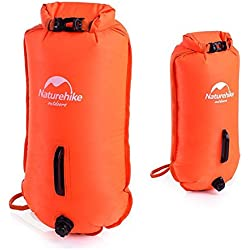 natural Hike 28L Open Water nadar doble de globo Swim Boya seco bolsa impermeable bolsa de playa, Unisex, naranja