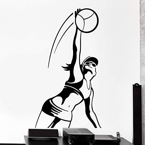zqyjhkou Einfache Home Wandaufkleber Wohnzimmer Sport Volleyball Mädchen Weibliche Frau Vinyl Aufkleber Abnehmbare Dekoration Yy347 42x73 cm