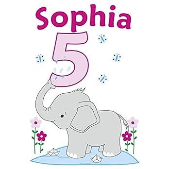 MissRompy Geburtstag Bügelbild Elefant (802) für dunkle und helle Stoffe Zahl groß Aufbügler Alter Bügelbilder…