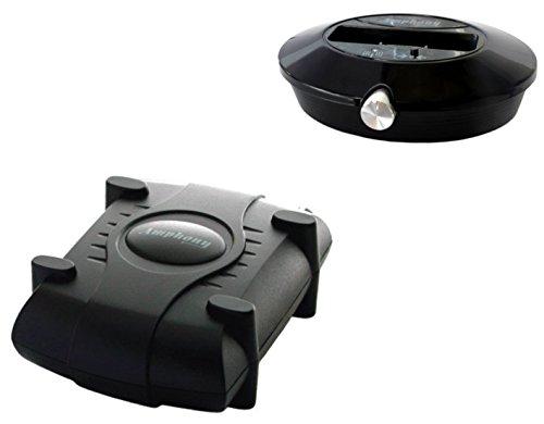 Amphony Lautsprecher-Funkset (Neue Version), macht rückwärtige Lautsprecher kabellos, 2x40 Watts, 100 m Reichweite, an jede Audioquelle anschließbar, bessere Funkübertragung als Bluetooth
