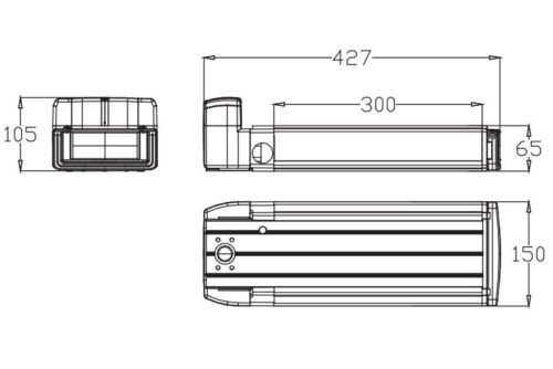 MIFA Prophete Fahrrad Akku 36V 10.4Ah 385Wh E-Bike Akku 36V Gepäckträger mit Halterung Ladegerät,Silber - 4