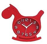 Red Horse Cute Schreibtisch / Bedside Wecker für Jungen / Mädchen