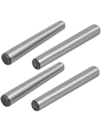 Tradico® Carbon Steel GB117 80mm Length 10mm Small End Diameter Taper Pin 4pcs