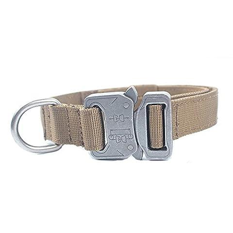 Collier de chien Yisibo Tactical militaire AjustableHarnais de dressage Molle