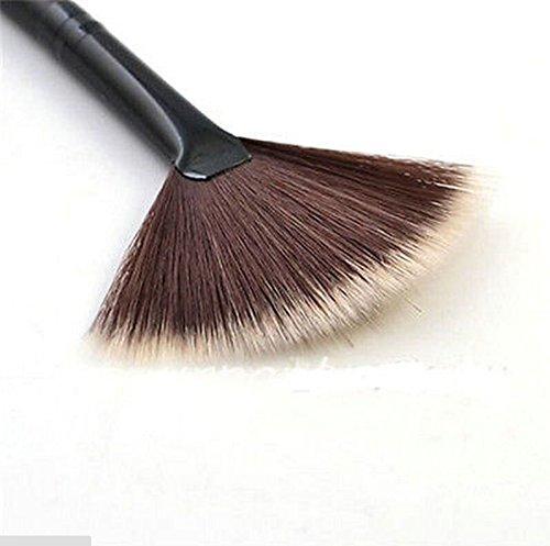 Velishy Pinceau de maquillage éventail Pinceau poudre/contours