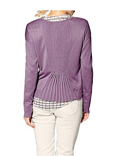 Heine - Best Connections - Gilet - Opaque - Femme Multicolore Mauve Violet - Mauve