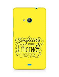 Amez Simplicity is the best form of Efficency Back Cover For Microsoft Lumia 535