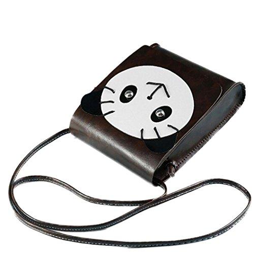 BZLine® Münze Handtasche Tasche Schultertasche aus Leder Handy Handtasche, 15cm *18.5cm *5cm Kaffee