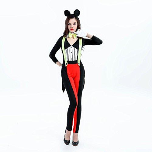 Nihiug Halloween Kostüm Cute Mickey Katze Mädchen Sexy -
