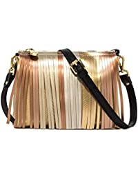 b24e767d90 GUM by Gianni Chiarini - Borsa media a tracolla Gum Two oro con frange - BS