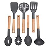 Beiguoxia cute Kitchen Tools 7PCS Home spatola mestolo cucchiaio stoviglie pentole utensili da cucina set nylon taglia unica One Color