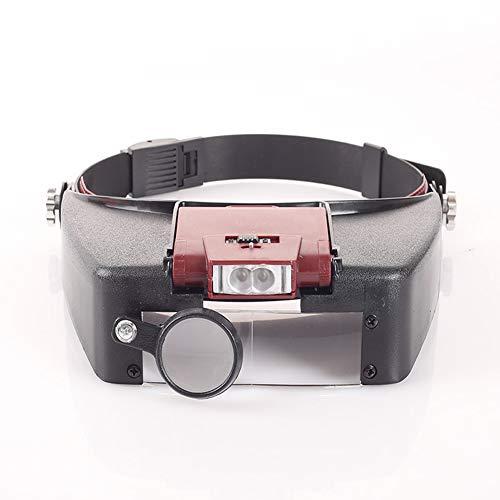 Kopfband-lupe Mit Led-licht, Head-mounted-leselupe, Juwelier, Uhr Lupe, 10-fache Vergrößerung