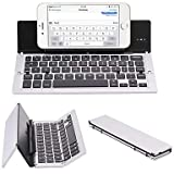 Drahtlose Tablet-Tastatur-Mini Dünne Faltbare Nachladbare Neuheit-Lithium-Batterie Angetrieben,Silver