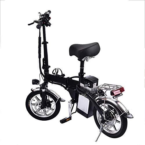 mysticall Pliant Ebike avec Batterie 350W 48V / 10AH, vélo électrique Pliable de 14 Pouces pour Adulte, vélo Pliable électrique avec pédales de vélo, jusqu'à 40 km/h