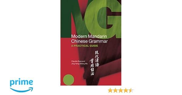 Modern Mandarin Chinese Grammar (Modern Grammars): Amazon.de ...