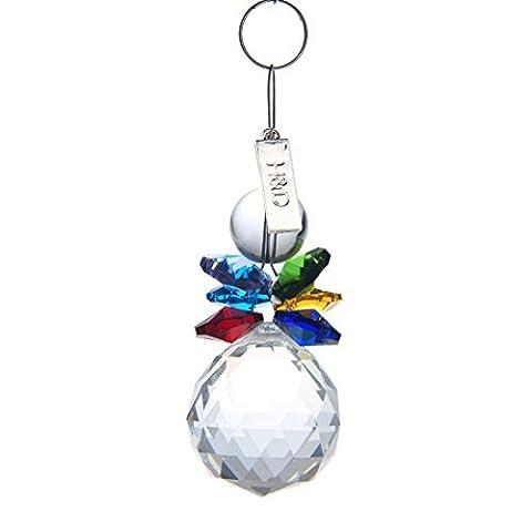 H&D Handmade Hanging Feng Shui Crystal Ball Prism Window Sun Catcher Wedding Glass Ornaments