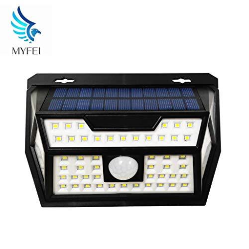 MYFEI Solar luci Esterne Luce Senza Fili sensore di Movimento con 120 ° grandangolare IP65 Impermeabile luci di Sicurezza per Front Door Cortile