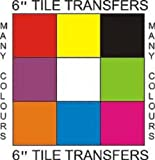 "Tile Transfers Stickers 6"" Self Adhesive Pack of 50 (White)"