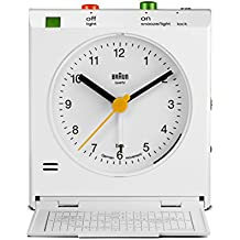 Braun – Despertador de viaje clásico con detector de movimiento, BNC005WHWH , color blanco