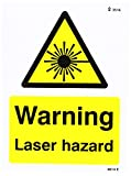 Caledonia Schilder 24014e Warnung Laser Warnzeichen, selbstklebendes Vinyl, 200mm x 150mm