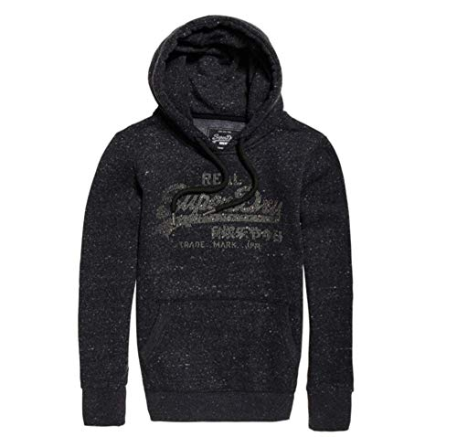 size 40 c63f8 9d8a1 SUPERDRY Sweatshirts and Hoodies Vintage Logo Mock Applique Entry Female  Black Heathered M