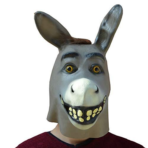 Maske Spiel Spielshow Lustige Kopfbedeckung Fotografie Anker Requisiten Latex Esel Maske (Color : A) ()