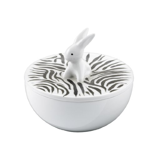 Goebel - 66881970: Bunny de luxe - Zebra Bunny - Porzellandose -
