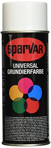 SparVar 6013152 Lackspray Grundierung Weiß, 400 ml
