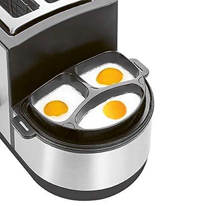 Clatronic-TAM-3688-Multifunktions-Toaster-5in1-Toasten-Eier-kochen-OmelettSpiegeleiRhrei-Pochieren-Dampfgaren-Brtchenaufsatz-Krmelschublade-Edelstahlgehuse