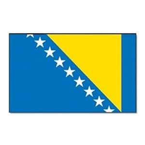 Flaggenking Bosnien Herzegowina Flagge/Fahne, mehrfarbig, 150 x 90 x 1 cm, 17002