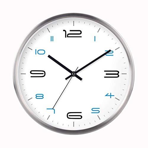 Orologio da parete modern living room camera mute l'orologio creativo -silver, 35 * 35cm-