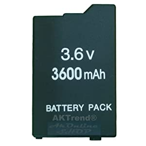 aktrend – Original Ersatz Power Akku 3600mAh für PSP Slim&Lite 2000 3000 2004 3004 (NEU) – PSP
