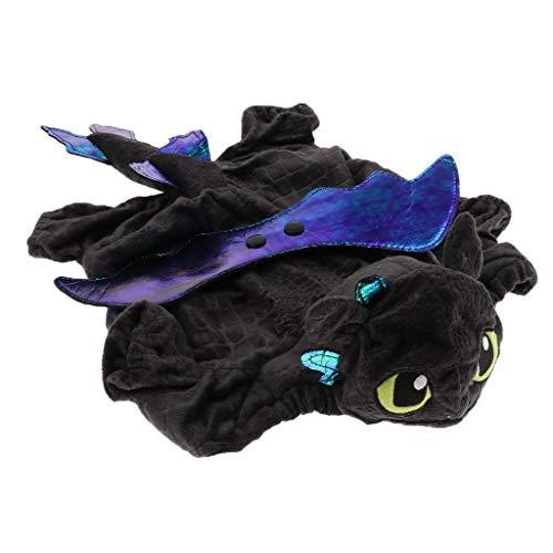Drache Hunde Schwarzer Kostüm - Sharplace Halloween Hundekleidung Drachen Cosplay Kostüm für Hunde und Katzen - Schwarz, M