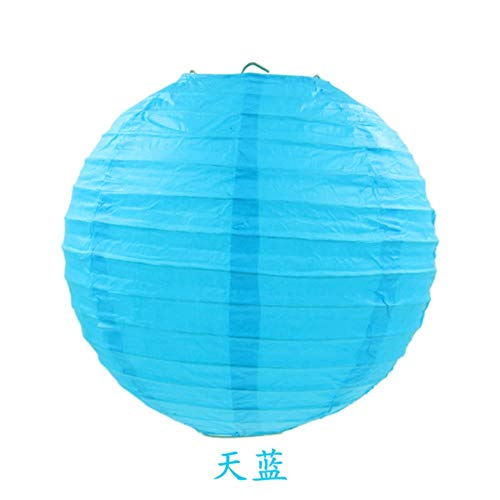 TTYAC Kaffee Chinesische Runde Papierlaterne Ballon Lampe Ball Licht Liefert Halloween Hochzeit Home Festival Dekoration Laternen, himmelblau, 4 Zoll 10 - Günstige Cupcake Girl Kostüm