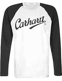 Carhartt League t-shirt man. longue L white/black