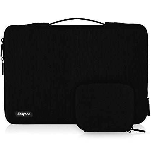 EasyAcc 15-15.6 Zoll Laptop Sleeve Hülle mit Griffen und Zubehörtasche Tragbare Laptoptasche Schutzhülle für 15.6