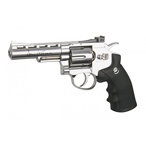 "Airsoft Dan Wesson 4""silver full métal Co2 Calibre 6mm. 1.1 Julios de potencia - ASG 16181"