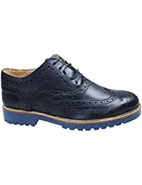 AK collezioni Scarpe uomo francesine blu scuro vera pelle artigianali casual  eleganti edb3ba2d379