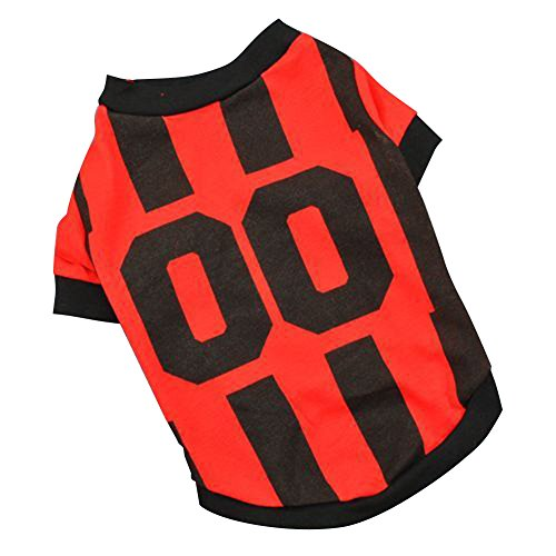 (GEZICHTA Pet Shirt, Hunde Kleidung Football Sportliche Wind Style T-Shirt Hunde Kostüm National Fußball-Weltmeisterschaft Trikot für Pet Weste)