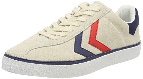 Hummel Unisex-Erwachsene Diamant Suede Sneaker Weiß (Pristine White)
