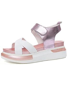 pendiente salvaje verano con sandalias planas corteza gruesa cabeza de pescado zapatos de estudiantes femeninas...