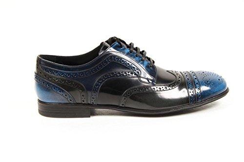 CA6047AP3408D677 Dolce&Gabbana Derby Homme Cuir Bleu Bleu