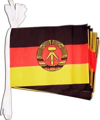 Flaggenfritze® Fahnenkette Deutschland DDR, Länge 5,9 m